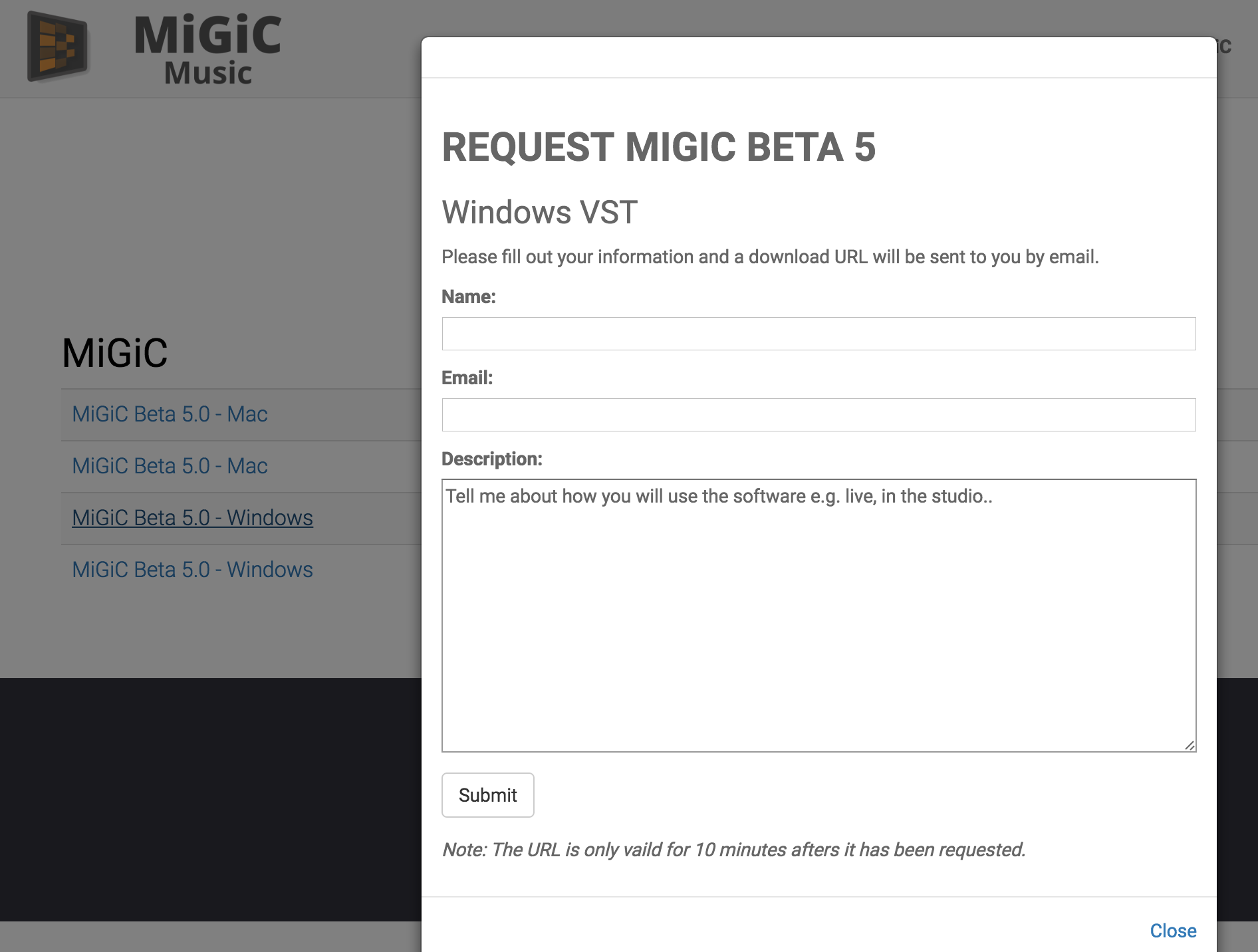 Download MIGIC step 02